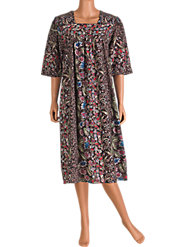 Stroll Through the Seasons in the Comfort of Our 100% Cotton Garden Floral Muumuu