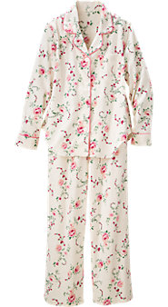 Womens Wild Rose Flannel Pajamas