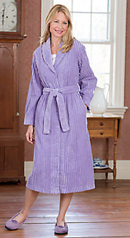 Womens Shawl Collar Chenille Robe