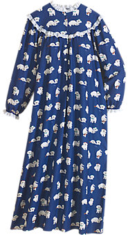 Womens Lanz of Salzburg Puppy Love Flannel Nightgown