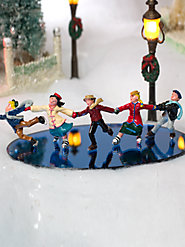 Vintage Barclay Figurines, Original Designs from the 1940s - Skating Train