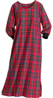 Women's Tartan Flannel Cabin Nightgown