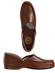 L.B. Evans' Chicopee Leather Slippers, Traditional Style and Comfort for the King of the Castle