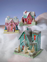 Limited-Edition Handmade Cardboard Christmas Villages Add Old-World Holiday Charm
