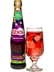 Ribena Blackcurrant juice concentrate a powerful antioxidant and rich in vitamin C An easy one of your 5 a day.