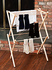 Sturdy Wood Drying Racks Won't Sag or Snag—Save Energy, Too!