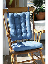100% Cotton Duck Chair Pads and Rocking Chair Pads with Resilient Latex Foam Will Never Flatten—Guaranteed