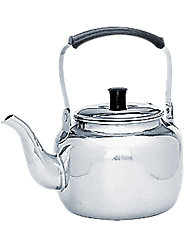 Lightweight Stainless Steel Teakettle Heats Quicker, Never Rusts, Never Drips