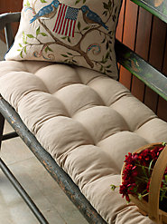 Thick Tufted 100% Cotton Bench Cushions Will Not Flatten