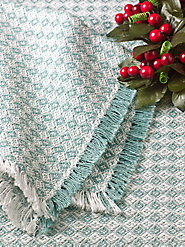 Mountain Weave Tablecloths Now in a More Formal Style