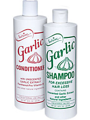 Odor-Free Garlic Shampoo and Conditioner Help Prevent Excessive Hair Loss