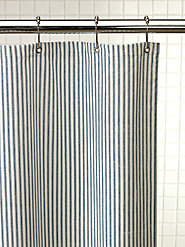 Heavy Cotton Duck Fabric Shower Curtain Means No More Billowing Liner