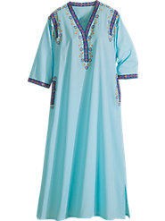 Eastern Embroidered Caftan for Relaxing in Elegance