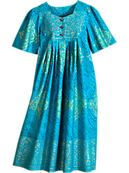 Cast a Golden Spell in This Persian Medallion-Print Muumuu