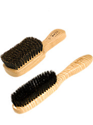 Soft, Boar-Bristle Hairbrushes, Extra Gentle for Thinning or Fragile Hair