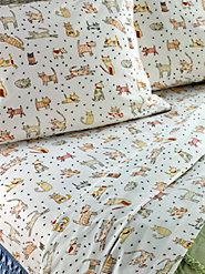 It's Raining Cats and Dogs with Our Portuguese Cotton Percale Sheets