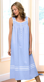 Eileen West's Cotton nightgown  with Grosgrain Detail, as Soft and Light as a Summer's Breeze