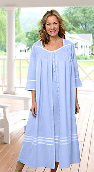 Womens Eileen West Summer Breeze Cotton Robe