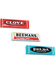 Black Jack Gum, Beemans Gum, and Clove Gum—Only While Supplies Last