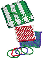 Traditional Potholder Loom and Loops