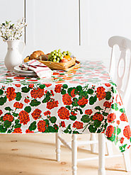 Genuine Oilcloth Tablecloths: Wipe-Clean Real Fabric That Won't Peel or Crack