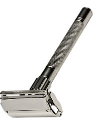 A Double-Edged Safety Razor Provides the Finest Shave Available
