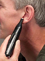 Cordless Electric Ear and Nose Hair Trimmer Is Safe, Easy to Use