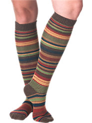 Cashmere Blend Striped Socks Will Make Your Feet Smile
