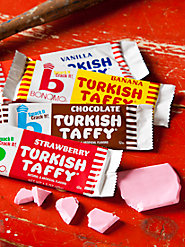 Bonomo Turkish Taffy: No Other Taffy Smacks, Cracks, or Tastes like It