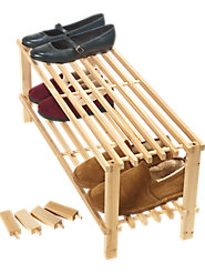 Stackable Two-Tier Shoe Rack
