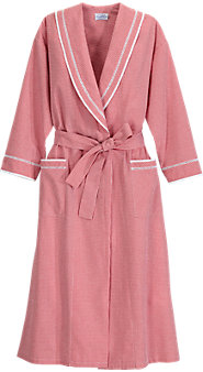 Woven Cotton Lawn and Seersucker Combine to Beat the Heat in Our Lanz Nightgown and Robe
