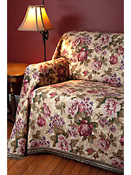 Floral Furniture Throws