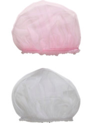 Tricot Ruffle Sleep Caps (Pkg. of 2)