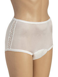 Feel Your Feminine, Confident Best in These Absorbent, Protective Lace-Trimmed Panties