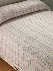 100% Cotton Bedspread Is a Mosaic of Soft Pastels