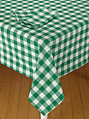 Heavy-Duty Tavern Check Table Linens for Use Indoors or Out