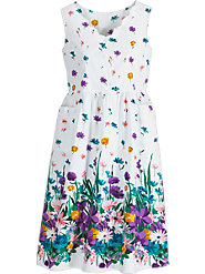 Look as Fresh as the Daisies on Our Pure Cotton Border-Print Sundress