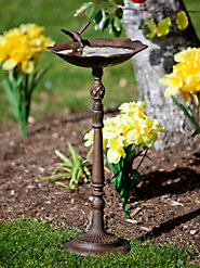 Invite Songbirds into Your Yard with This Cast Iron Hummingbird Birdbath