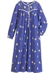 Lanz's Night Owl Flannel nightgown  Will Make You Want to Turn In Early