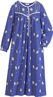 Women's Lanz Night Owl Flannel Nightgown