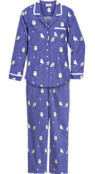 Lanz Night Owl Flannel Pajamas