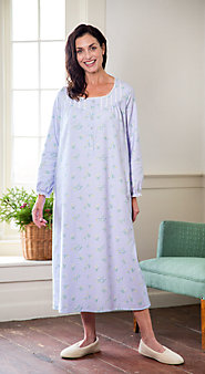 Womens Lanz Edelweiss Flannel Nightgown