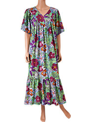 Like a Season-Spanning Garden, Our Floral-Print Muumuu Explodes with Vibrant Color