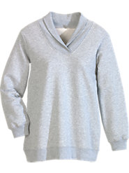 Women's Shawl-Collar Sweatshirt Comfortably Flatters