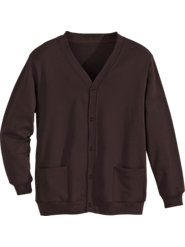 Men's Cardigan Sweatshirt: The Comfort of a Sweatshirt in a Classic Cardigan Style