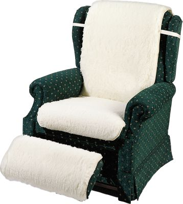 Wool Fleece Recliner Cover With Available Footrest Cover