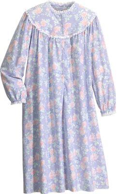 Lanz Of Salzburg Shorter Length Flannel Nightgown In