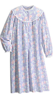 Lanz of Salzburg Shorter-Length Nantucket Rose Nightgown