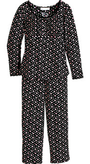 Eileen West French Rose Jersey Knit PJs