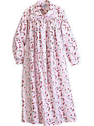 Lanz Playful Kittens Flannel Nightgown